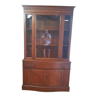 Hickory Antique Mahogany China Cabinet For Sale