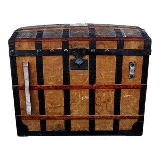 Antique Swiss Travel Trunk For Sale