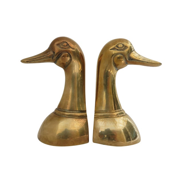 Brass Mallard Bookends - A Pair - Image 1 of 6