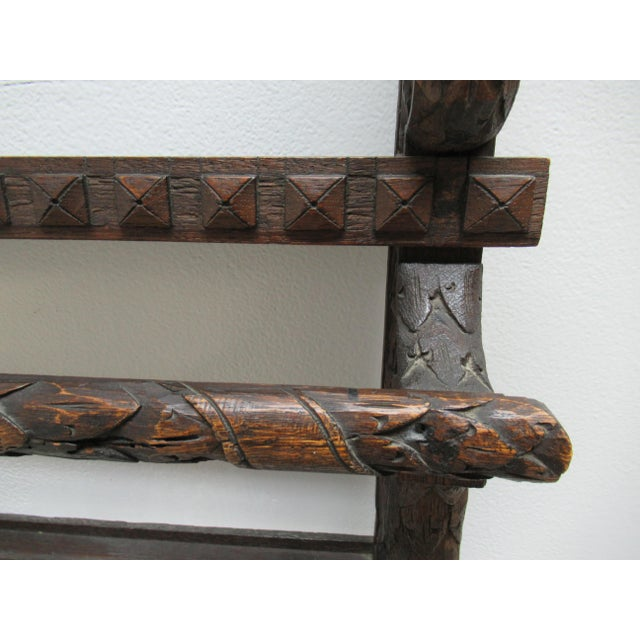 Wood Italian Figural Carved Hand Plate Rack For Sale - Image 7 of 12