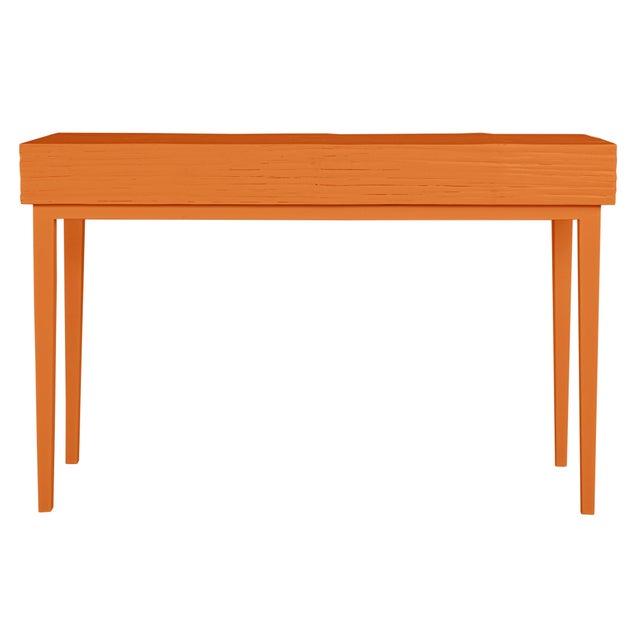 Contemporary Athena Desk in Citrus Orange For Sale - Image 3 of 8