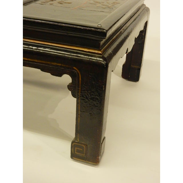 Lacquer Lacquered Chinoiserie Coffee Table For Sale - Image 7 of 11
