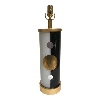 """Liz Marsh Designs """"Paris Now"""" Eglomise Lamp For Sale"""