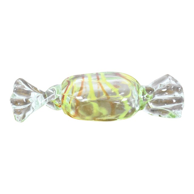 Yellow Murano Glass Candy Object - Image 1 of 6