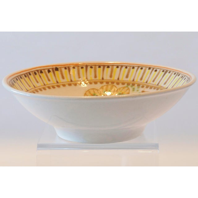 Mid-Century Janet Rothman Floral Bowl - Image 9 of 11