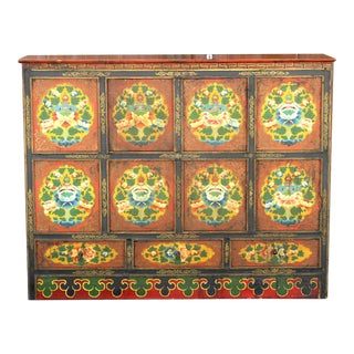 Early 19th Century Tibetan Cabinet For Sale