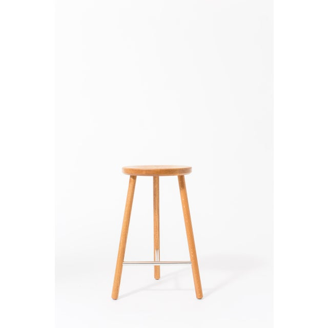 The Scout stool has a slim design, allowing it to be tucked into small spaces with a minimal footprint. Seat diameter is...