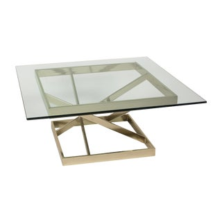 1980s Intersecting Angles Coffee Table For Sale