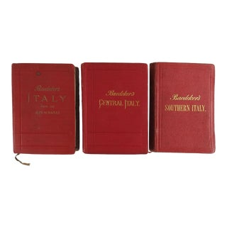 Baedeker's Italy, Travel Guides 1897 - Set of 3 For Sale
