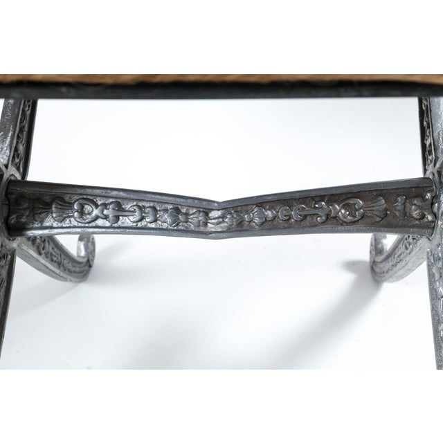 20th Century Neoclassic X-Frame Upholstered Benches - a Pair For Sale - Image 11 of 12