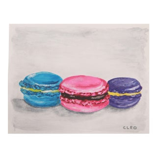Italian Macaroon Still Life Painting by Cleo For Sale