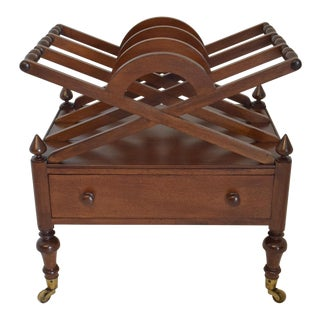 19th-Century English Mahogany Canterbury For Sale