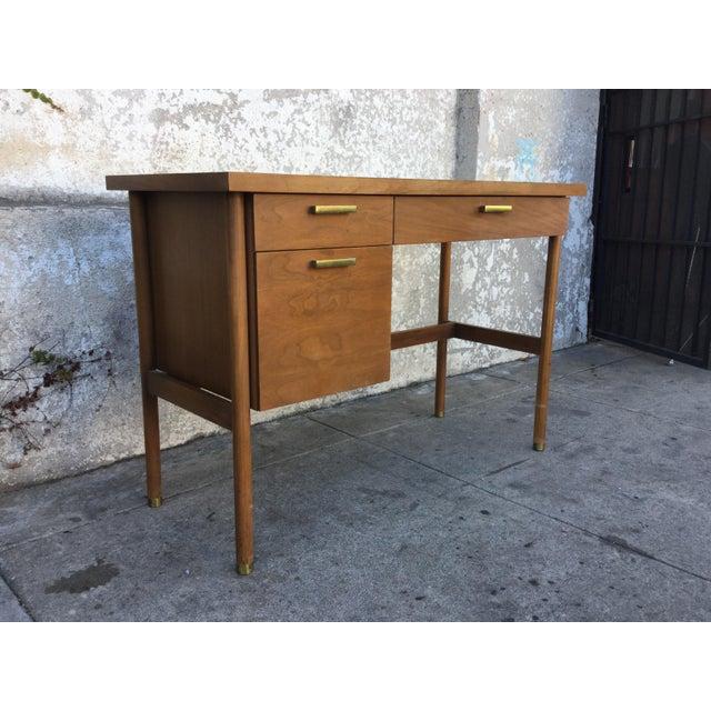 Vintage Mid-Century Walnut Desk - Image 3 of 6