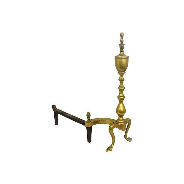 Brass Andirons - A Pair - Image 2 of 6