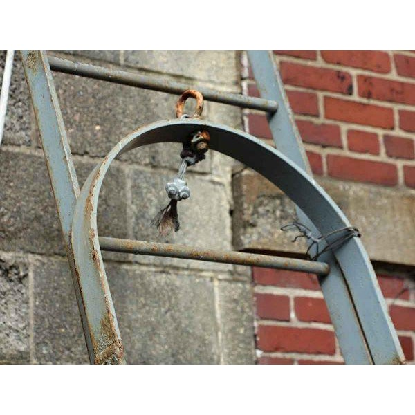 Industrial Vintage Extendable Steel Fire Escape Stairs For Sale - Image 3 of 3