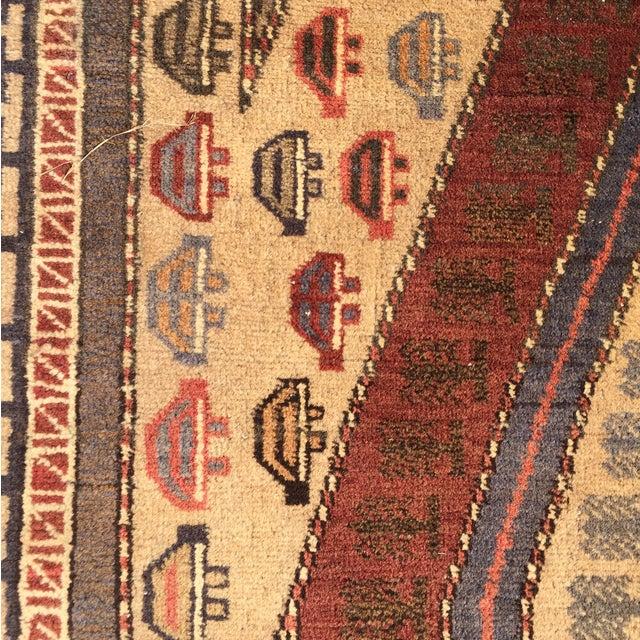 "Vintage Baluchi Persian Rug - 2'11"" x 3'10"" - Image 6 of 10"