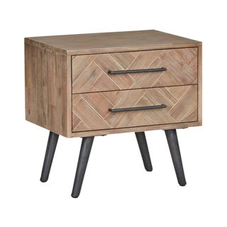 Classic Home Dexter Acacia Wood Nightstands