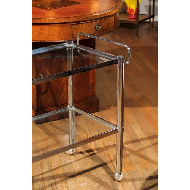 Chrome Two Tier Bar Cart For Sale In Atlanta - Image 6 of 7