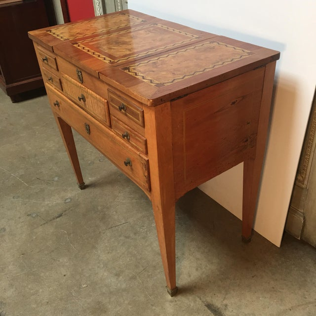 Wood 18th Century Louis XVI Dressing Table, Coiffeuse For Sale - Image 7 of 13
