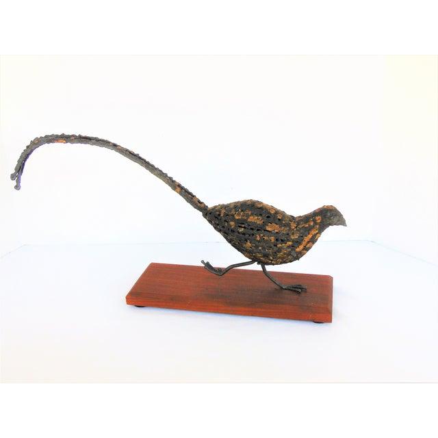 Mid-Century Brutalist Pheasant Sculpture - Image 3 of 5