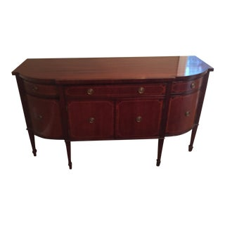 Traditional English Mahogany Veneer Buffet
