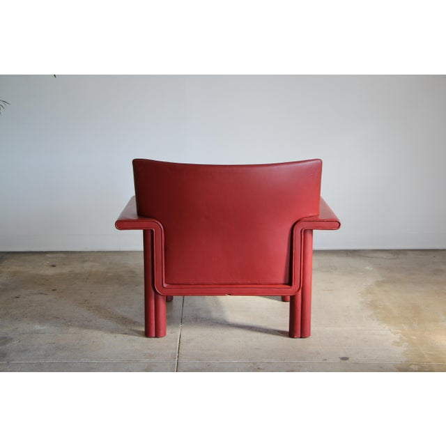 Afra & Tobia Scarpa Leather Lounge Chair For Sale In San Diego - Image 6 of 13
