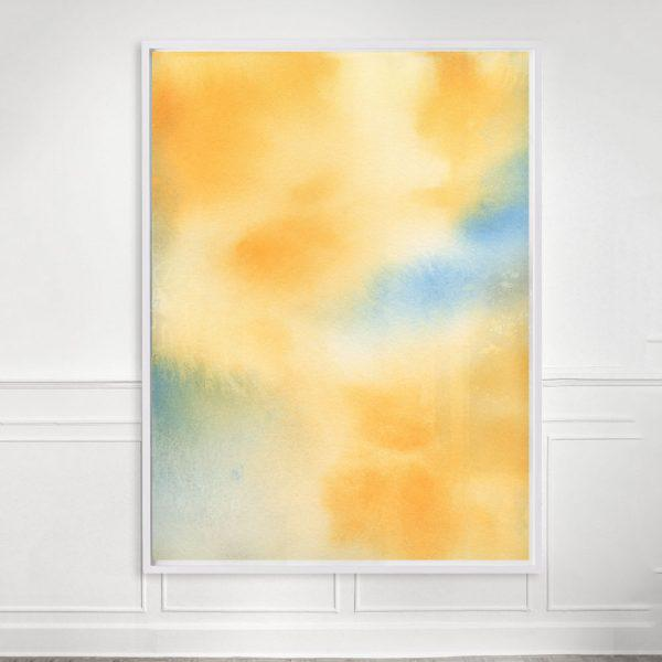 """""""Untitled (Yellow Abstract)"""" Unframed Print For Sale - Image 4 of 4"""