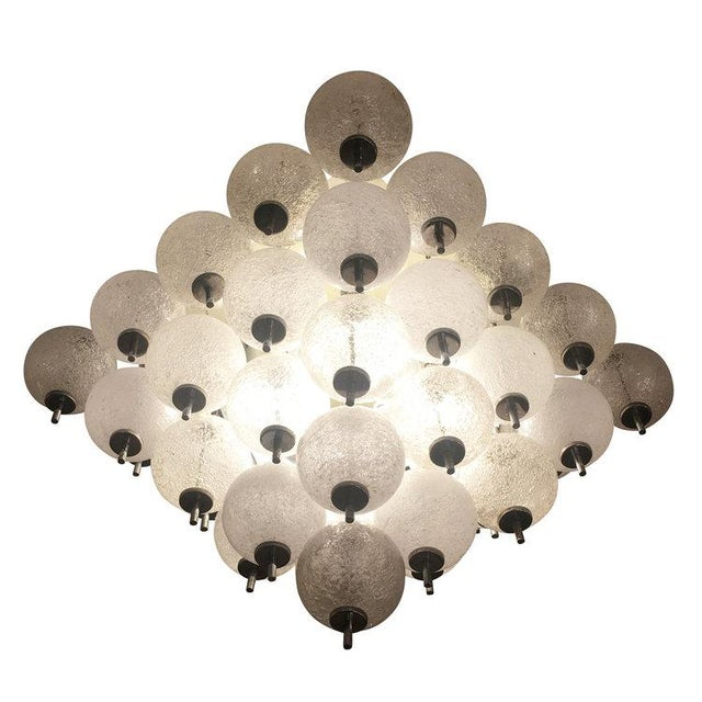 1960s Murano Flush Mount Fixture Attributed to Seguso For Sale - Image 5 of 5