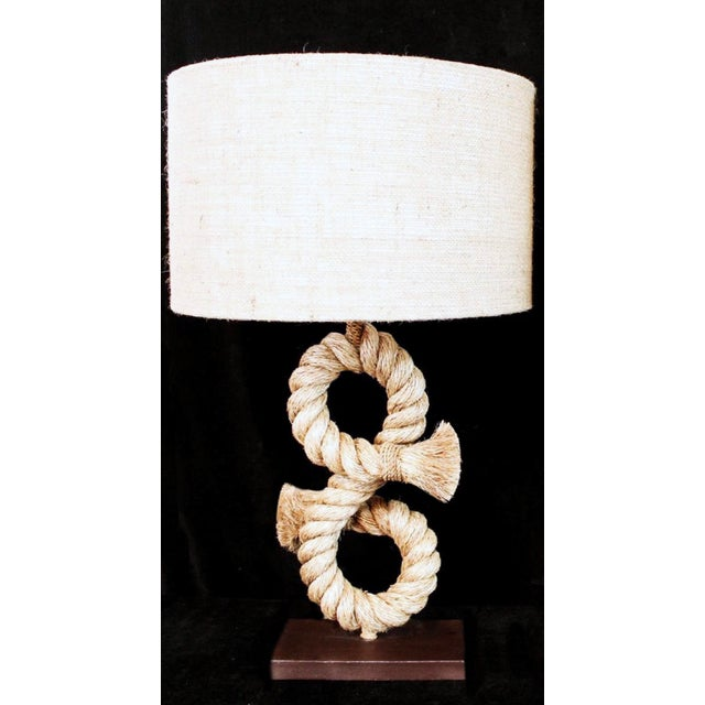1990s Anthony Barata Nautical Modern Seafarer's Knot Table Lamp For Sale In New York - Image 6 of 6