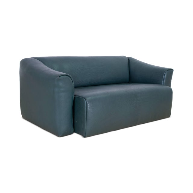 Early 21st Century De Sede DS 47 Sofa in Petrol Green Leather For Sale - Image 5 of 12