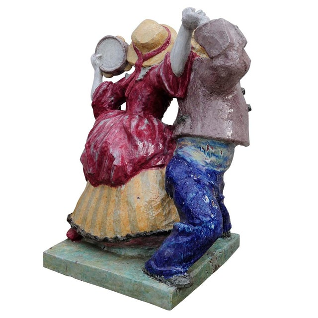 Blue Nymphenburg Porcelain Sculpture Dancing Couple By Josef Wackerle For Sale - Image 8 of 11