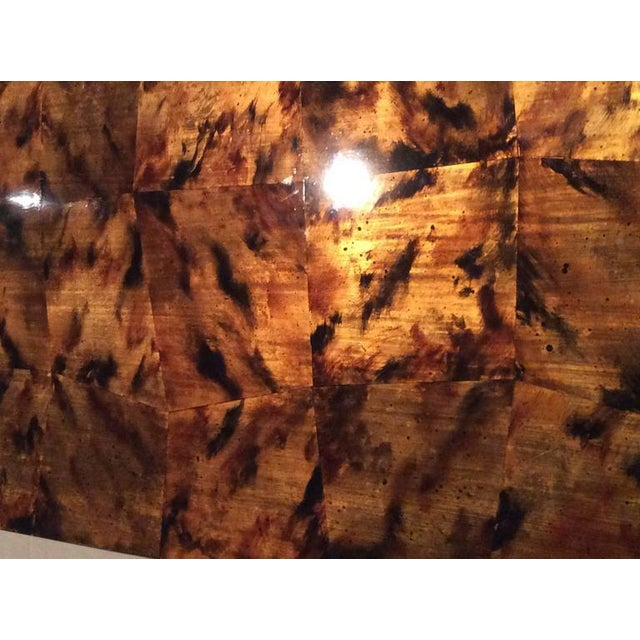 Mid-Century Modern Brass Tortoise Shell Sideboard For Sale In West Palm - Image 6 of 12