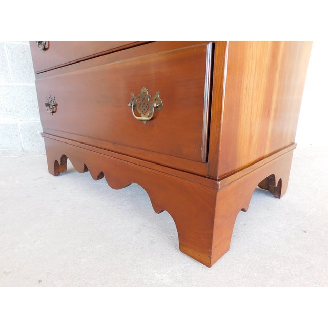 Stickley Chippendale Style Solid Cherry 6 Drawer Tall Chest For Sale - Image 11 of 12