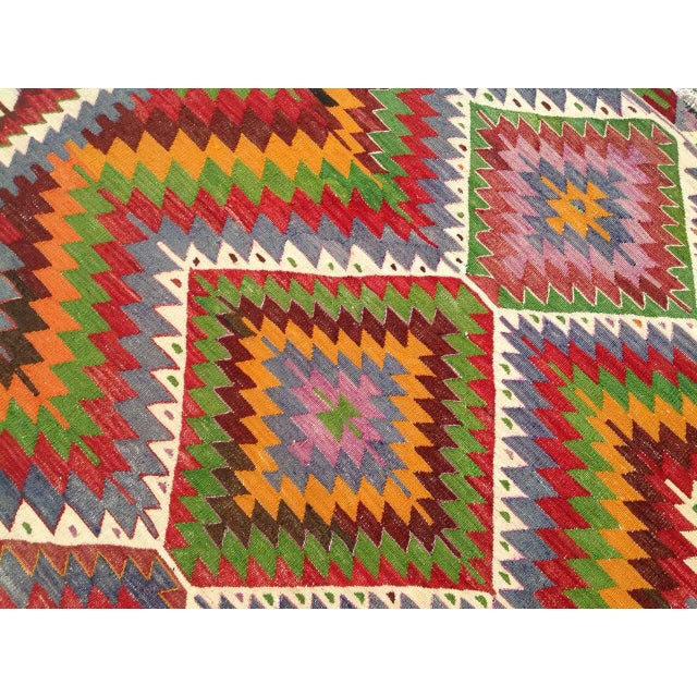 Vintage Turkish Kilim Rug - 5′7″ × 8′7″ For Sale - Image 9 of 9