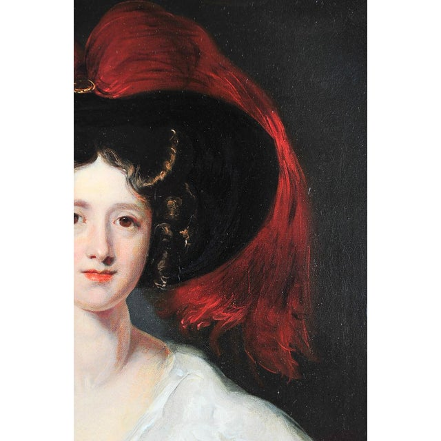 "Traditional ""Lady Peel"" after Sir Thomas Lawrence For Sale - Image 3 of 9"