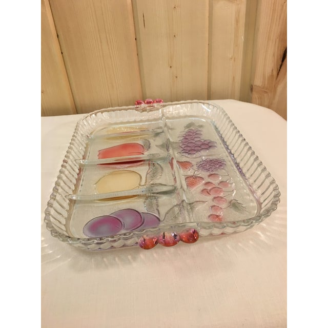 Mid-Century Modern Clear Glass Fruit Tray For Sale In Dallas - Image 6 of 8
