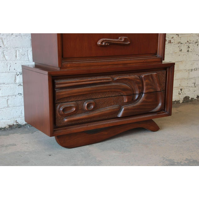 Mid-Century Sculptural Highboy Dresser in the Style of Philip Lloyd Powell For Sale - Image 9 of 11