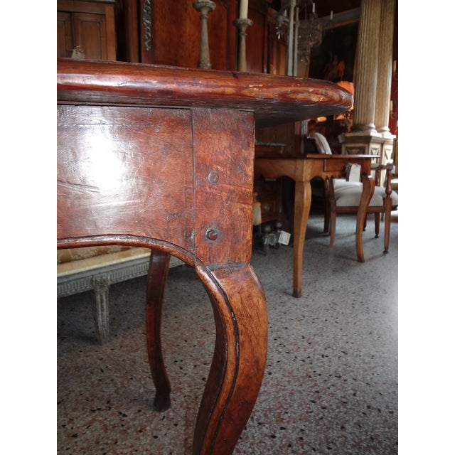 Late 18th Century Louis XV Walnut Side Table For Sale - Image 5 of 11