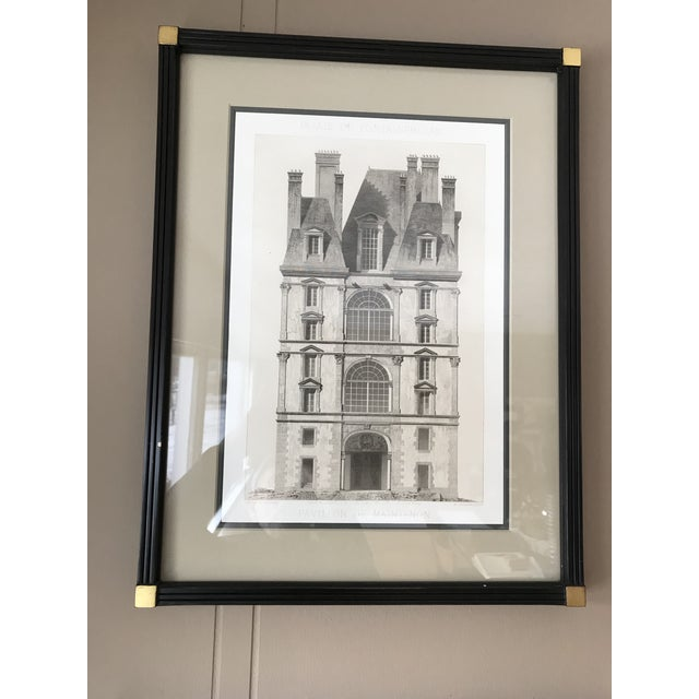 Etching Antique Fontainebleau Architectural Framed Prints - Set of 9 For Sale - Image 7 of 13