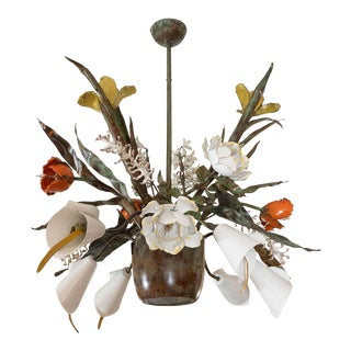 Garland Fawlkner Floral Tolle Chandelier For Sale