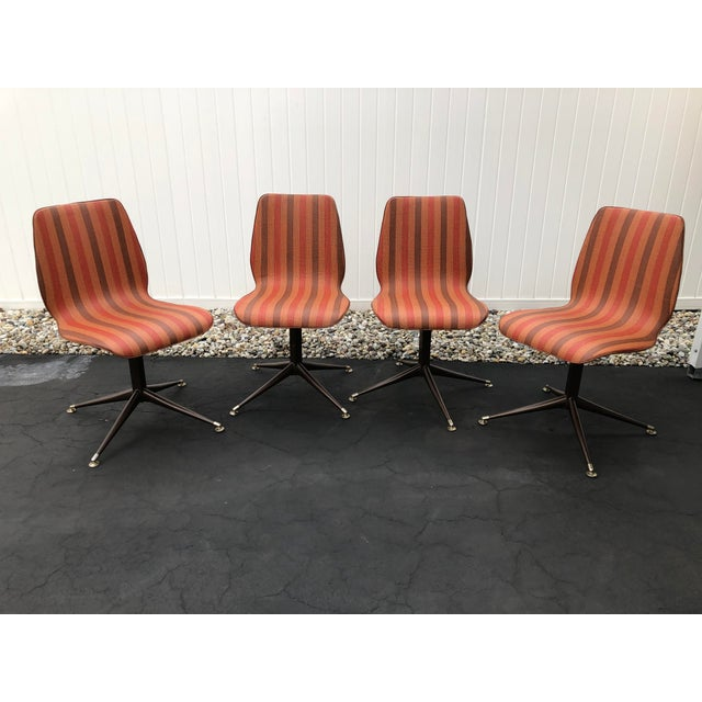 Vintage Mid Century Howell Acme Striped Vinyl Chairs- Set of 4 For Sale - Image 13 of 13