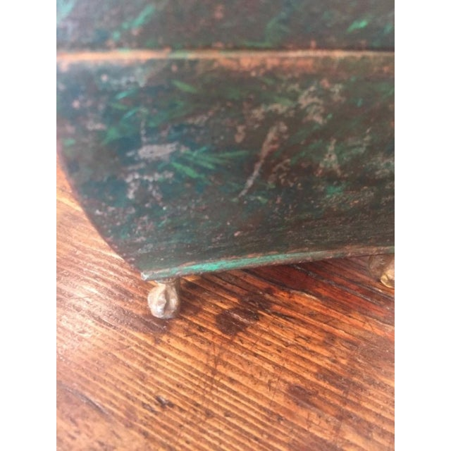 Folk Art 19th Century Folk Art Patinaed Wooden Caddy For Sale - Image 3 of 7