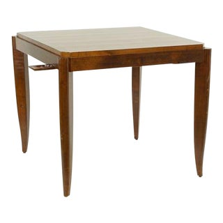 Antique Art Deco Walnut Parquetry Game Table For Sale