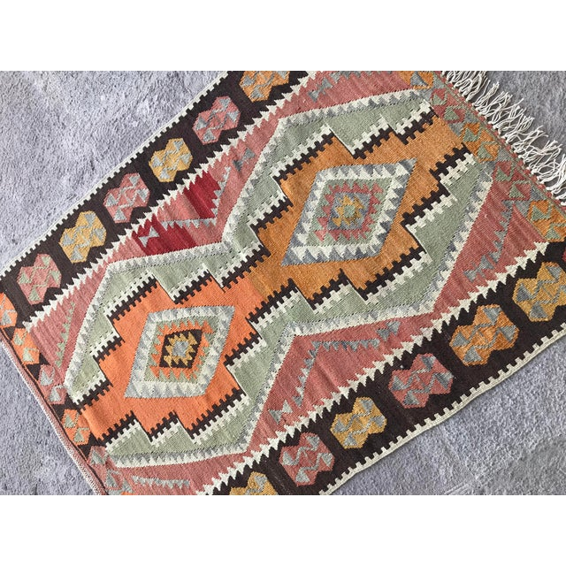 1930s Vintage Turkish Anatolian Kilim Rug For Sale In Raleigh - Image 6 of 12