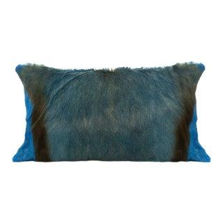 Springbok Pillow in Caribbean Blue For Sale