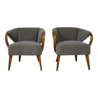1950s Mid-Century Arm Chairs - a Pair For Sale