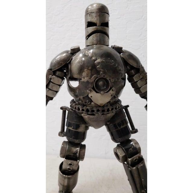 2000 - 2009 Heavy Gauge Scrap Metal Robot Sculpture For Sale - Image 5 of 9