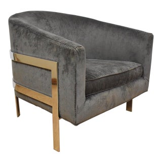 Mitchell Gold + Bob Williams Modern Chrome Lounge Chair