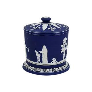Antique English Jasperware Ice Bucket For Sale
