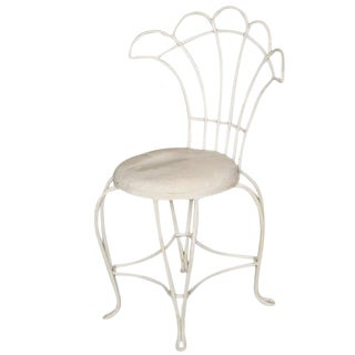 Woodard Rod Iron Fan Back Outdoor/Patio Chair